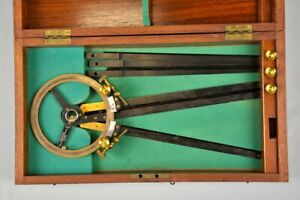 Antique Russian Naval station pointer or three arm protractor,1912
