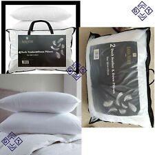 Luxury Duck Feather Pillows Hotel Quality 46cm x 72cm Extra Filled Pillows New