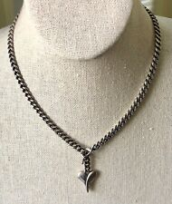 """Margo Manhattan Sterling Silver Romeo Heart Necklace Collection 16"""""""