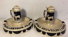 2 Vintage Neuweiler's Beer Ashtray W Stein Allentown Pa Man Cave Pub Bar Germany