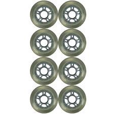 Inline Skate Rollerblade Wheel 77mm 78a Clear/Silver 5-Spoke Hub Set of 8