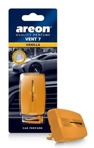 Areon Vent 7 Car Perfume Vent Clip AC and Fan Air Freshener, Vanilla Scent