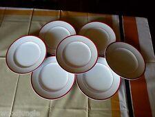 7 Vintage WILLIAMS SONOMA RED BRASSIERE DINNER  PLATES JAPAN WILLIAMS-SONOMA
