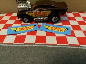 Matchbox Superfast No VII Brown Sugar STIKERS Dodge Charger Cosmic Blues  NO CAR