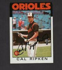 1986 Topps #340 Cal Ripken Jr Signed Autograph Card Orioles MLB HOF