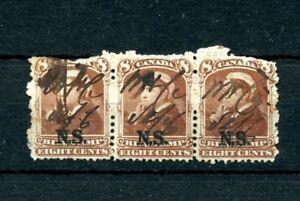 NSB9 strip overprint Cat $40+ 1 stamp. NS 3rd BILL STAMPS 1868 Revenue
