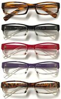N17 Womens Mens Classic Popular Colorful Plastic Reading Glasses Frame +150-+350