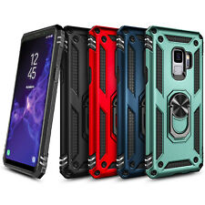 For Samsung Galaxy S9/S9 Plus Case Magnetic Ring Kickstand Military Phone Cover