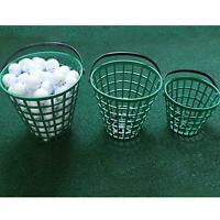 Solid Golf Ball Basket Balls Bucket Storage Container with Handle Holder
