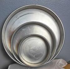 "Set of 3 Magic Line Cake Pans 14"" 10"" 7"" x 2"" Made in USA Vintage"