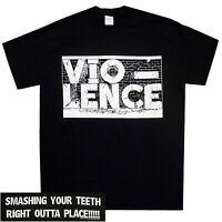 Vio-lence Smashing Your Teeth Shirt S-XXL T-shirt Thrash Metal Band tshirt Offcl
