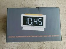 Housbay Digital Alarm Clocks for Bedrooms - Handy Night Light, Large Numbers wit