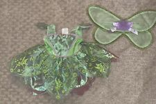 Girl Disney Baby Green Tinkerbell Dress Halloween Costume Size 6-12 Months