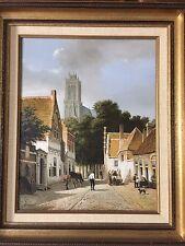 R. Vergeer (1894-1969 Dutch Painter) Original Oil Painting Landscape, Signed