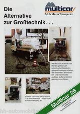 Prospekt Multicar 26 Kanalreinigung 2002 LKW Kleinlastwagen brochure Broschüre