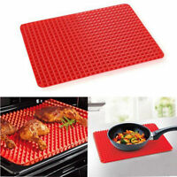 Pyramid Pan Non Stick Fat Reducing Silicone Cooking Mat Oven Baking Tray Sheet w