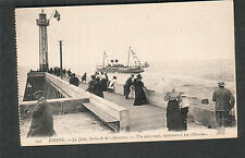 France unmailed post card Dieppe La jetee sortie del la ship Manche departure