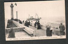 France unmailed post card Dieppe La jetee sortie del la ship Manche departure