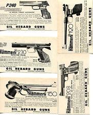 1975 small Print Ad of Gil Hebard Hammerli 120 150 208 230 & P240 Pistol 5 ADS