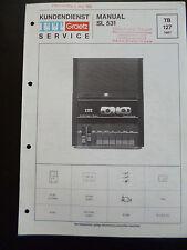 Original Service Manual  ITT Graetz SL 531