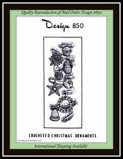 CHRISTMAS Crochet PatternTree ORNAMENTS Design 850 Fruit, Flowers, and more