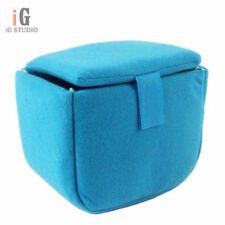SLR Portable Camera Inner Partition Padded Protector Case Bag blue
