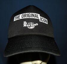 Dr Martens Air Wair Original Icon BLACK Trucker Mesh Snapback Cap Baseball Hat