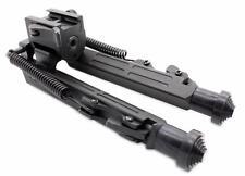 Tactical Rifle Bipod Square Leg Spring Lock 7.5 to 10 inch QD Picatinny Mount