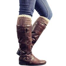 Boot Fashion Warm Lace Socks Accessories Wool Cuffs Toppers Crochet Winter AA
