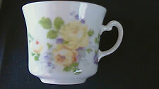 COLCLOUGH English PORCELAIN Cup only YELLOW ROSES Made England Fine Bone China