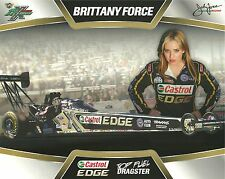 Brittany Force 2013☞#2 Nhra Drag Racing Castrol Edge Top Fuel Postcard-Handout