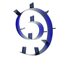 Kartell Bookworm Wandregal mit elf Bücherstützen kobaltblau (opal)