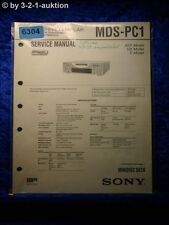Sony Service Manual MDS PC1 Mini Disc Deck (#6304)