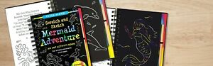 Scratch and Sketch Art Craft Activity Book Trace Along! Best Birthday Gift!