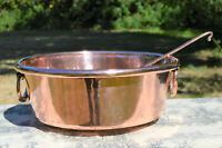 Antique Copper Pan Jam Pan + Ecumoire French Copper Jam Jelly Candy Confiture