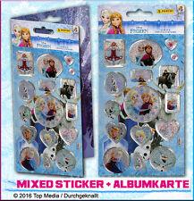 Disney Frozen Die Eiskönigin Mix 17 x Crystal Sticker + Albumkarte Anna Elsa