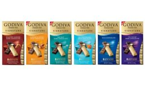 GODIVA Chocolatier Signature Chocolate Candy Bars (6 Pack) by CANDY CABIN