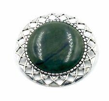 """Irish Connemara Marble Pin  - 1.75"""" in diameter"""