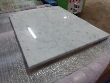 Tagliere in marmo bianco di carrara 60x50,base per stemperare il cioccolato