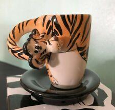 Swak * Walter the Tiger * Espresso Cup & Sauce * demitasse Lynda Corneille * Nib