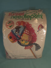 NEW 1979 SUNSET NEEDLEPOINT CHRISTMAS KIT CHILD'S HOBBY HORSE CHARLENE GERRISH