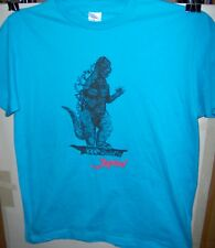 GODZILLA T-SHIRT IMPORT Japanese Light Blue Size Medium Very COOL