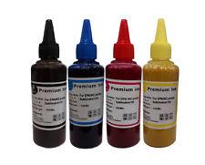 4 x 100ml Sublimation ink for Epson ecotank eco tank printers BK Cyan Mag Yellow