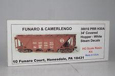 FUNARO & CAMERLENGO No. 30010 PRR H30A COVERED HOPPER - WHITE STEAM DECALS