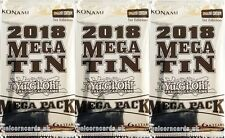 YuGiOh! Mega Tin Mega Pack 2018 1st Edition New And Sealed Booster Pack x3