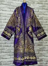 STUNNING UZBEK GOLD SILK EMBROIDERED ROBE CHAPAN FROM BUKHARA T504