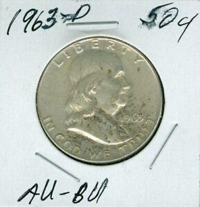 1963-D SILVER FRANKLIN HALF DOLLAR TAU - BU    SHIPPING IS 55 CENTS