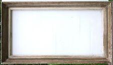 N°387 CADRE Bois patine grise milieu XXème pour chassis 100 x 50,3 cm