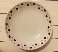 Pampered Chef Simple Additions Dots Bowl Salad Pasta Bread Serving Dish 10.5""
