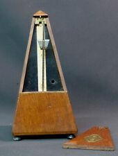 x 1850 rare beau métronome ancien MAELZEL Paris 22cm acajou musique instrument
